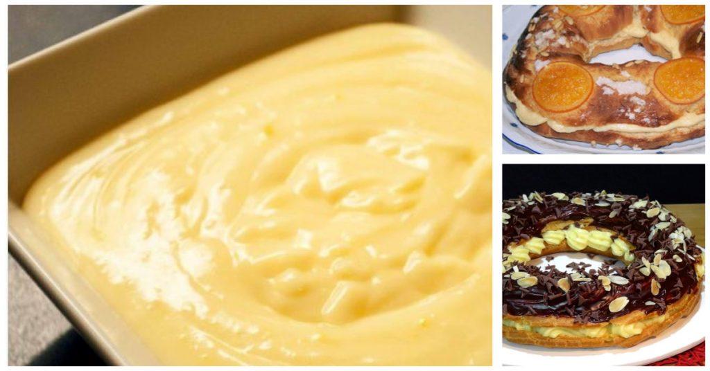 Relleno de crema pastelera
