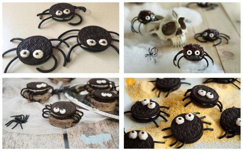 Arañas de galleta - recetas de Halloween para niños