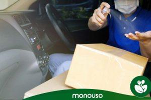 Schlüssel zum Aufnehmen von Paketen ohne Gesundheitsrisiko