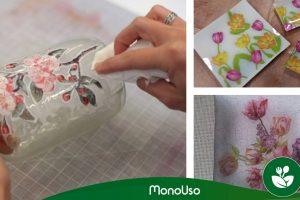 Wie man Glas mit Papierservietten dekoriert